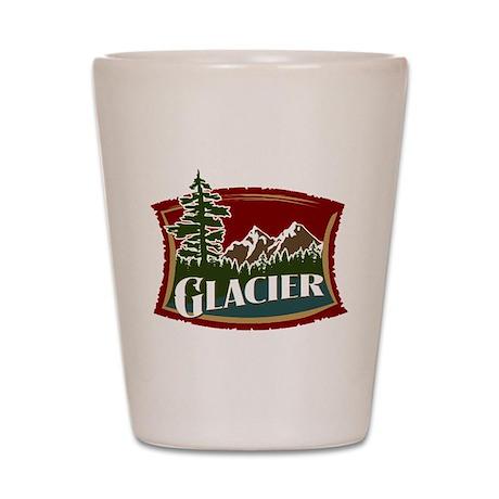 Glacier Mountains Shot Glass