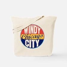 Chicago Vintage Label Tote Bag