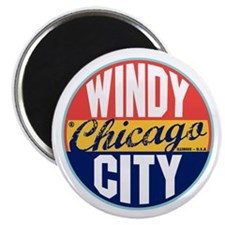 Chicago Vintage Label Magnet