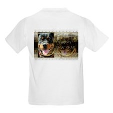 New Year - Golden Elegance - Rottie T-Shirt