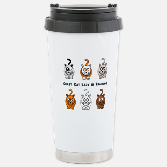 Crazy Cat Lady In Training Stainless Steel Travel