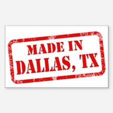MADE IN DALLAS Decal