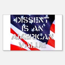 Dissent Rectangle Decal