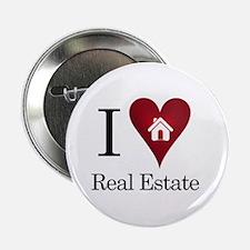 "I Heart Real Estate 2.25"" Button"