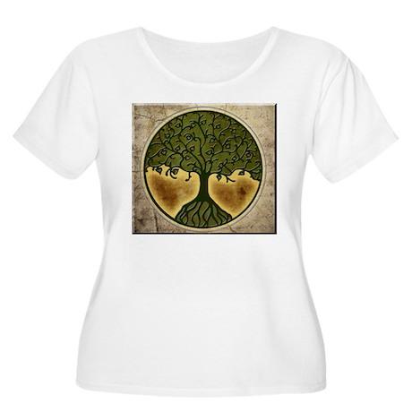 Tree of Life Women's Plus Size Scoop Neck T-Shirt