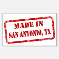 MADE IN SAN ANTONIO Sticker (Rectangle)