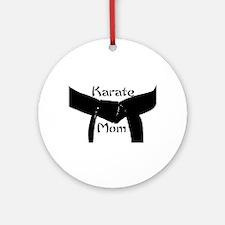 Karate Mom Ornament (Round)