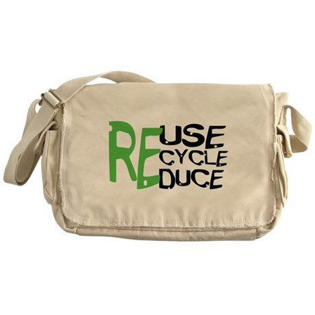 Reuse Recycle Reduce Messenger Bag