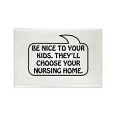 Nursing Home Bubble 1 Rectangle Magnet