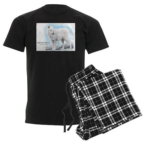 Arctic Wolf Men's Dark Pajamas