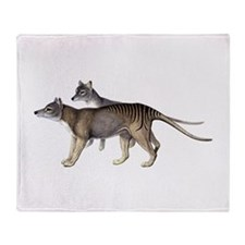 Thylacine Throw Blanket