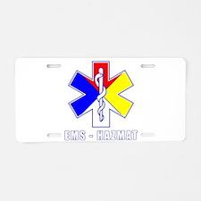 EMS-HAZMAT Shirts Aluminum License Plate