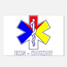 EMS-HAZMAT Shirts Postcards (Package of 8)