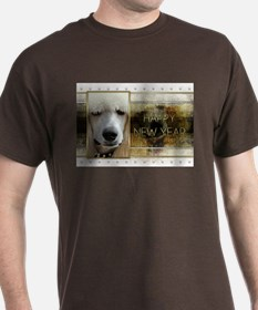 New Year - Golden Elegance - Poodle T-Shirt