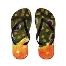 Brook Trout Fly Fishing Flip Flops