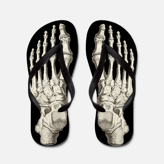 Spooky Skeleton Flip Flops