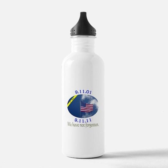 9-11 We Have Not Forgotten Water Bottle