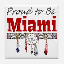 Proud to be Miami Tile Coaster