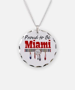 Proud to be Miami Necklace Circle Charm