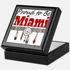 Proud to be Miami Keepsake Box