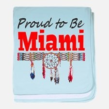 Proud to be Miami baby blanket