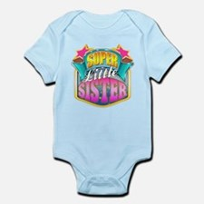Pink Super Little Sister Infant Bodysuit