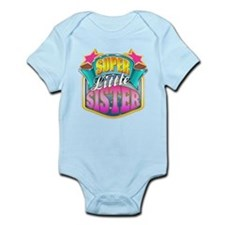 Pink Super Little Sister Onesie
