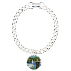 Sailboats / Affenpinscher Charm Bracelet, One Char