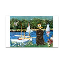 Sailboats / Affenpinscher Car Magnet 20 x 12