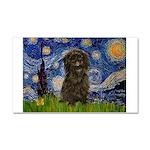 Starry Night / Affenpinscher Car Magnet 20 x 12