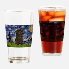 Starry Night / Affenpinscher Drinking Glass