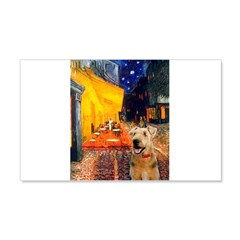 Cafe - Airedale (S) Wall Decal
