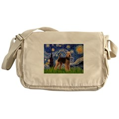 Starry Night - Airedale #6 Messenger Bag