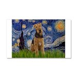 Starry - Airedale #1 Car Magnet 20 x 12