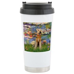 Lilies#2 & Airedale (S) Stainless Steel Travel Mug