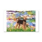 Lilies#2 - Airedale #6 Car Magnet 20 x 12