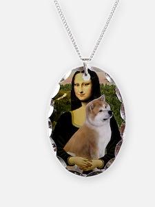 Mona / Akita (br&w) Necklace