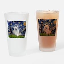 Starry-Am. Eskimo Dog Drinking Glass