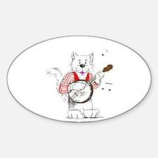 Banjo Cat Decal