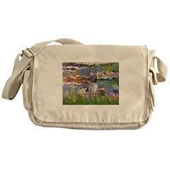 Lilies2-Am.Hairless T Messenger Bag
