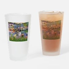 Lilies2-Am.Hairless T Drinking Glass