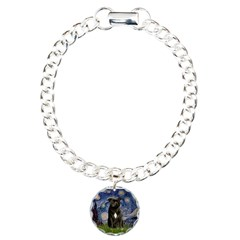 Starry-Am.Staffordshire (blk) Bracelet