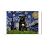 Starry-Am.Staffordshire (blk) Car Magnet 20 x 12