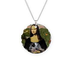 MonaLisa-AussieCattle Pup Necklace Circle Charm