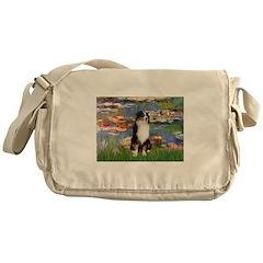 Lilies2-Tri Aussie Shep2 Messenger Bag