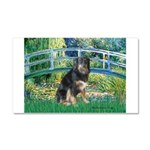 Bridge-Aussie Shep - Tri (L) Car Magnet 20 x 12