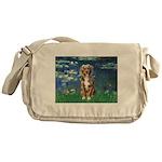 Lilies5-AussieShep (#5) Messenger Bag