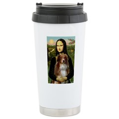 MonaLisa-AussieShep #4 Stainless Steel Travel Mug