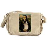 MonaLisa-Tri Aussie Shep2 Messenger Bag