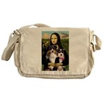 MonaLisa-Two Aussie Sheps. Messenger Bag